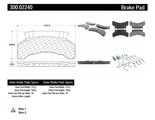 Disc Brake Pad Set-Premium Semi-Met Pads with Shim and Hardware Front,Rear