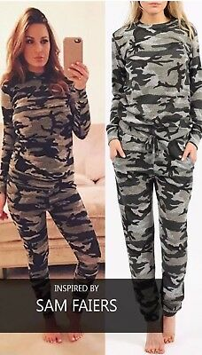 Aus Dem Ausland Importiert Plus Size Women Sam Camouflage 2pc Jogging Bottom Top Loungewear Tracksuit 8-20