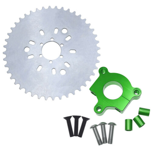 """32 to 44 Tooth Sprocket Green CNC Adapter 415 Chain 1.5/"""" Motorized Bike 80cc"""