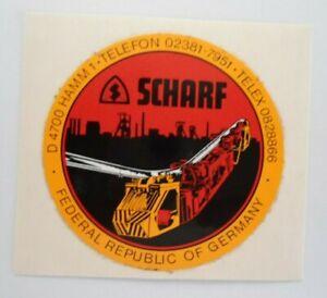 Promotional Stickers Sharp Smt 4700 Hamm Schienen-Transport Mining People 80er