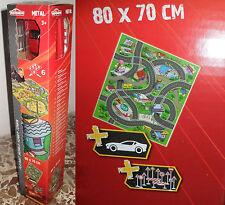 Tappeto Da Gioco Città Smoby Simba 80x70 Majorette + Modellino auto + accessori