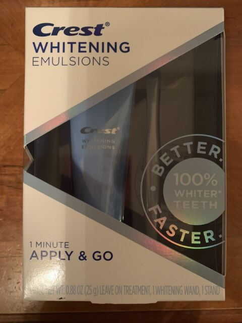 Crest Whitening Emulsions Leave On Whitening Treatment New in Box Exp 2022