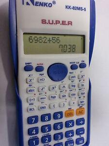 Calculator scientific kenko for universities,college, with clock.