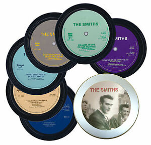 6 THE SMITHS coasters in a tin. Morrissey. Popsters.