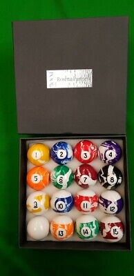 """1 7//8/"""" 47.5mm Spots /& stripes Pool table Balls.Limited quantity with triangle"""