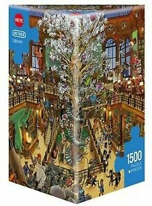 Heye Puzzles - Triangular 1500 piece Jigsaw Puzzle - Library, Oesterle HY29840