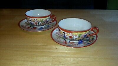 China Porzellan Chinesische  Tee-Sets 1 Teekanne 6 Teetassen Blumenmotiv