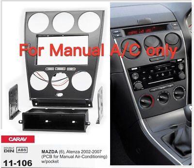 Car Radio Fascia Panel For Mazda 6 Atenza Manual Air Conditioning 11 106 Ebay