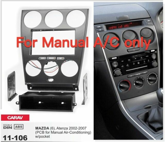 carav 11 106 2din car radio dash kit face plate frame panel for rh ebay com  2006 mazda 6 radio manual