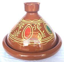 Plat a tajine tagine Marocain cuisson terre cuite émaillé 31 cm 7/8 personne c