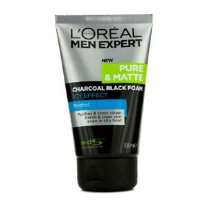 L'Oreal Men Expert Pure & Matte Icy Effect Charcoal Black Foam 100ml Men's Skin