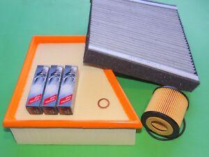 Filter-Satz Filterset Inspektionspaket mit Zündkerzen für VW Fox 1.2