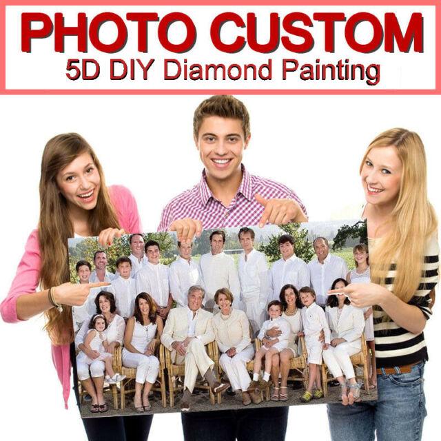 5D Diamond Painting Full Drill Custom Photo DIY Mosaic Cross Stitch Embroidery