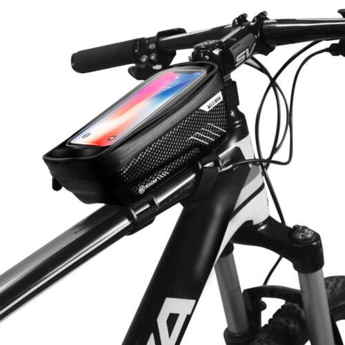 MTB Bicycle Cycling Bike Front Top Tube Frame Bag Phone Holder Case Waterproof