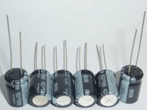 50pcs 680uF 25V Nichicon HD 10x16mm 25V680uF Super Low Impedance Capacitor
