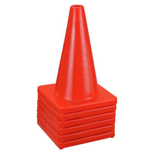 6-New-17-034-Red-Wide-Body-Road-Safety-Cones-Construction-Traffic-Sports-PVC-Cone