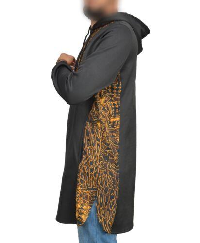 1 x Sunna Top vestiti islamici al Amana qamis afrikano Nero-Arancione L