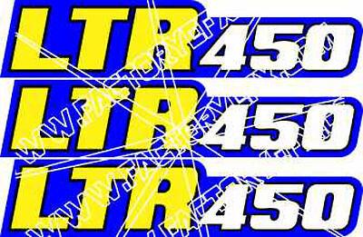 Blaster Swingarm Airbox Number Plate Decals Stickers ATV YFM200 2 stroke yellow