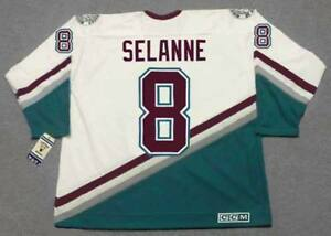 reputable site 03bf0 4f390 Details about TEEMU SELANNE Anaheim Mighty Ducks 1997 CCM Vintage Throwback  Home NHL Jersey