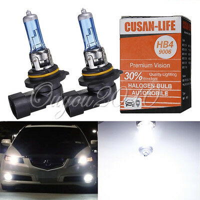 2X 9006 HB4 Super White Fog Halogen Bulb High Power 55W Car Headlight Lamp 12V