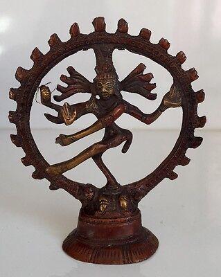 Brass Small Natraj Dancing Shiva Natraja Indian God