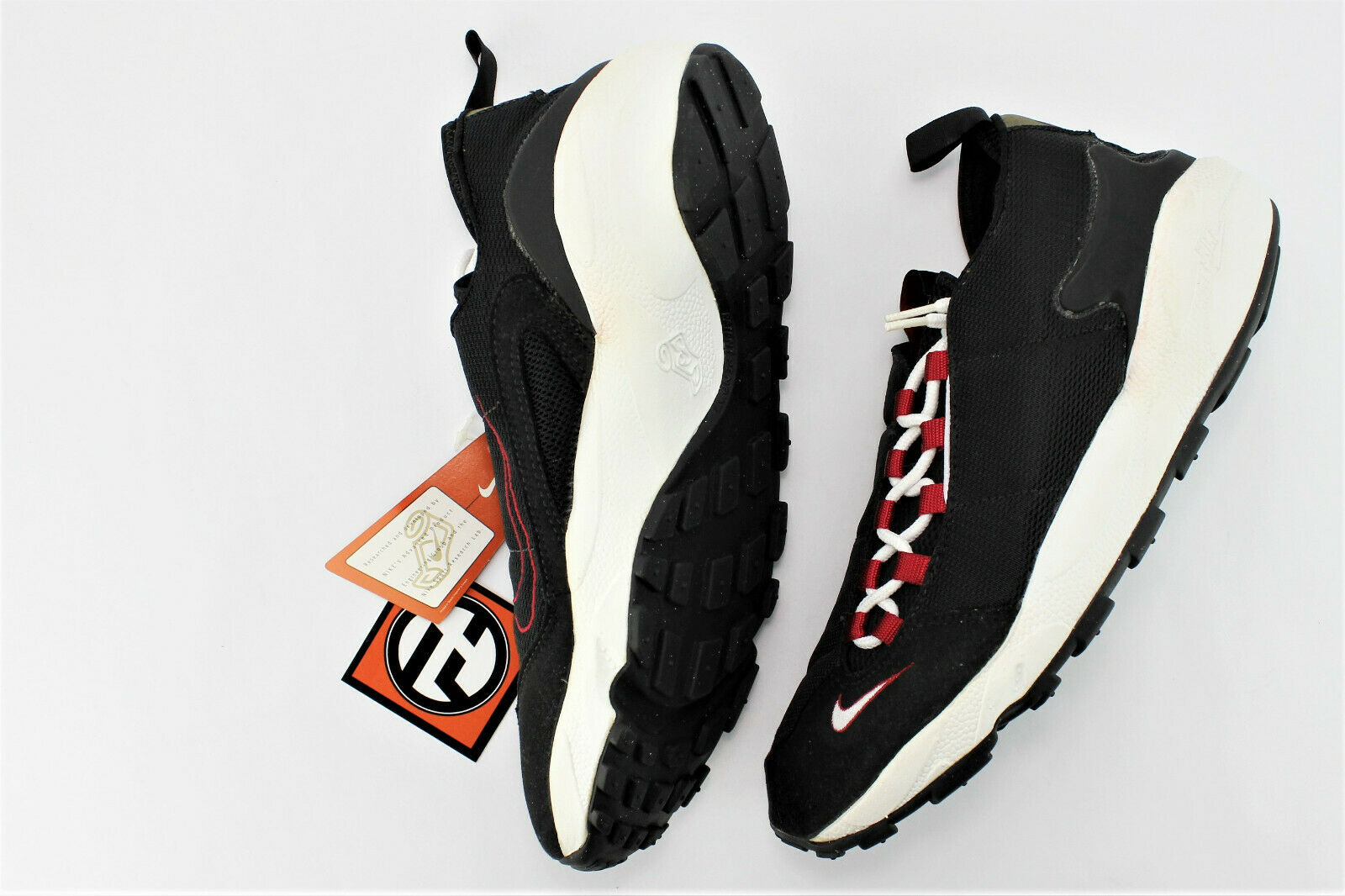 Nike Air Footscape Black White Varisty Red Size 10.5 1996' 104053 011