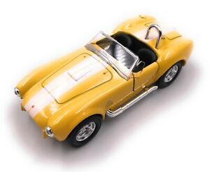 Shelby-Cobra-Modellino-Auto-Cabrio-Sportive-Oldtimer-Giallo-Scala-1-3-4