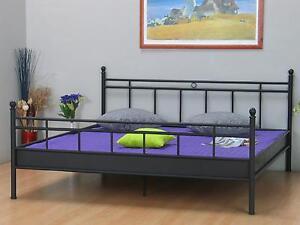 metall doppelbett 140x200 ehebett metallbett bett bettgestell jugendbett schwarz ebay. Black Bedroom Furniture Sets. Home Design Ideas