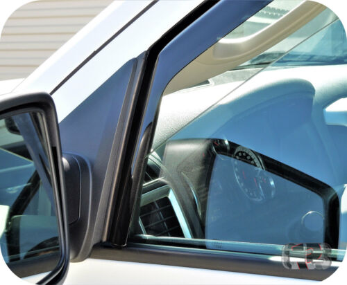2009-2018 Ram Crew Cab In Channel Window Deflector Vent Visor Rain Guard Shade