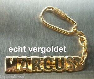 Schlüsselanhänger Ernst Edler SchlÜsselanhÄnger Marcus Vergoldet Gold Name Keychain Weihnachtsgeschenk