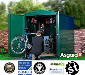 6-Bike-Shed-Secure-Metal-Bike-Storage-Storage-for-6-Bikes-Asgard