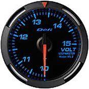DEFI BLUE RACER GAUGE 52MM VOLTMETER 10-15V - DF07001