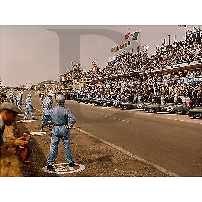 PLAQUE ALU REPRODUISANT UNE PHOTO LE MANS ASTON MARTIN 1959