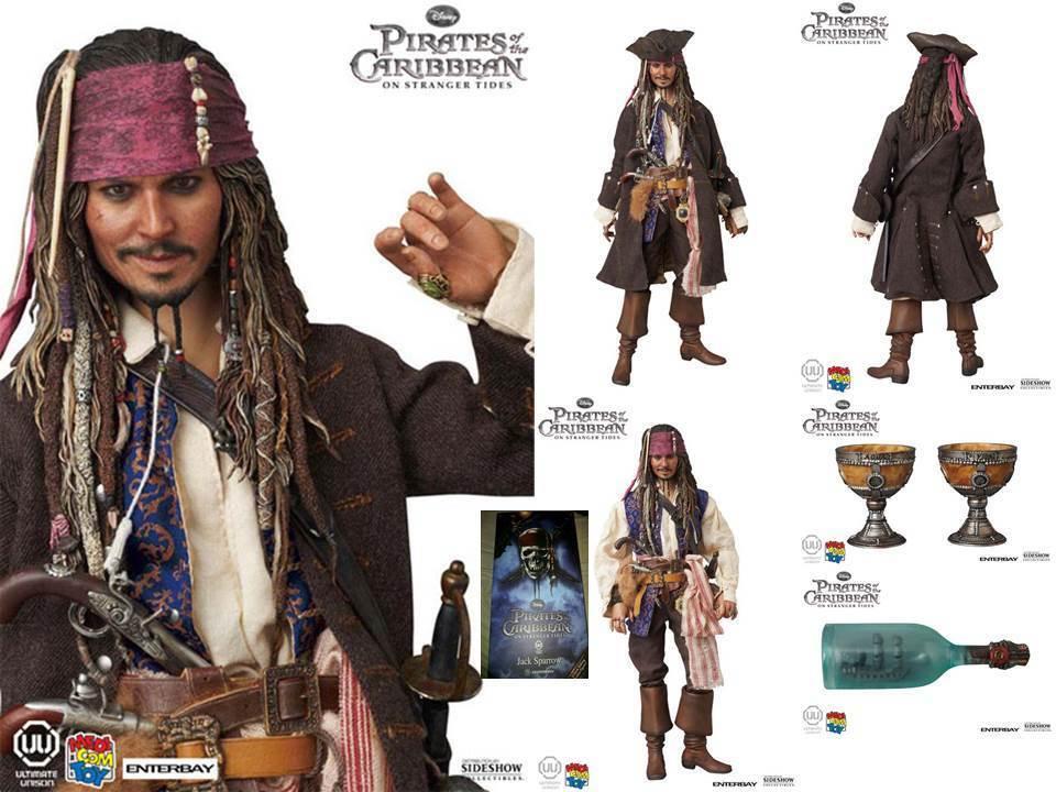 (NO HOT TOYS)MEDICOM Jack Sparrow  PIRATES of the CARIBBEAN CARIBBEAN CARIBBEAN ENTERBAY 1 6 scale cacd0c