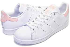 new concept 904fe 61aa5 Details about ADIDAS STANSMITH SHOES WHITE/PINK AC8413 US MENS SZ 4-8