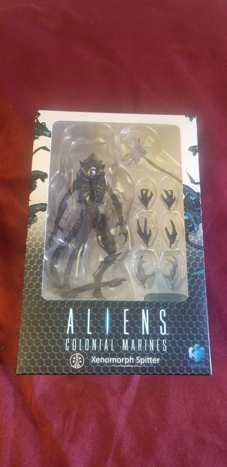 Alien - 4  action - figur xenomorph im spucken colonial marines hallo spielzeug nur 2012