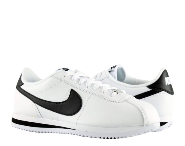 newest collection e4b76 cad76 Nike Cortez Basic Leather White/Black-Silver Men's Running Shoes 819719-100