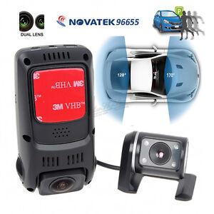 B40S-PLUS-2CH-DUAL-VEDI-Condensatore-HD-1080P-girevole-auto-Dash-Cam-Camera