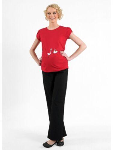 Witzige süße Umstandsmode T-ShirtSchwangerschaft GeschenkStorch mit Baby K