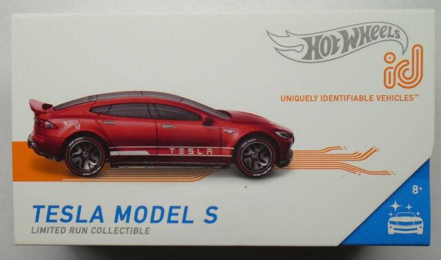 2019 Hot Wheels Id Tesla Modell S Rot Einzigartig Identifizierbare Fahrzeuge