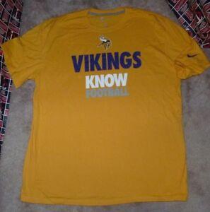 NEW NFL Minnesota Vikings Football T Shirt NIKE Statement Men L ... 3fa588ebb