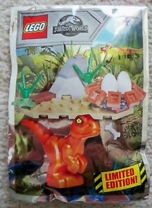 LEGO-Jurassic-Park-Jurassic-World-Baby-Raptor-And-Nest-Foil-Pack-121801-New