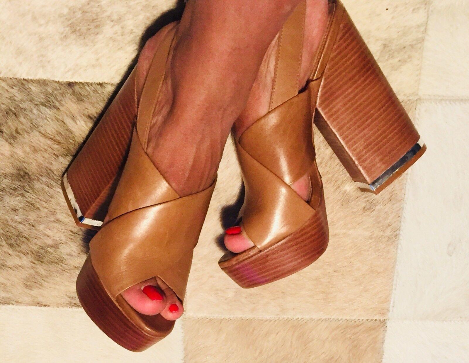 SCHUTZ Frauen Sandale mit Absatz Camel Damenschuhe   Schuhe Gr 37 Neu