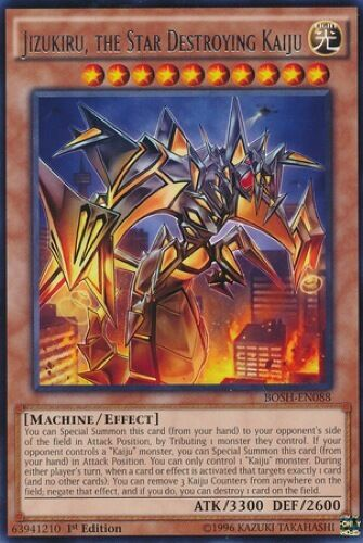 Jizukiru, the Star Destroying Kaiju (BOSH-EN088) - Rare - 1st Edition