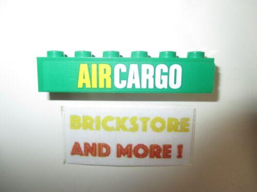 Lego 1x Brick//Brique 1 x 6 AIR CARGO Pattern Set 60021 3009pb177