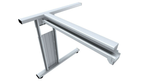 Fuß Gestell 120x80x72cm verschiedene Dekore Tisch Bürotisch Schreibtisch C