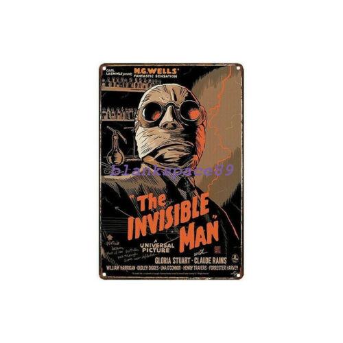 Metal Tin Sign the invisible man  Decor Bar Pub Home Vintage Retro Poster