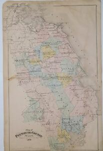 1879-Original-Map-Plymouth-County-MA-Mass-Atlas-Marshfield-Duxbury-Scituate-Hull