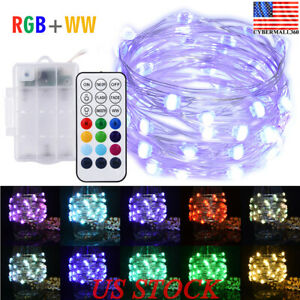 Multicolor-Led-Fairy-String-Lights-5M-50LEDs-Battery-Operated-Remote-Control-New