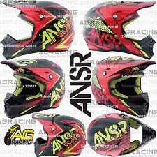 Answer 2016 Adult Helmet SNX 2 Flo Red Black Acid Medium M Motocross Enduro ATV